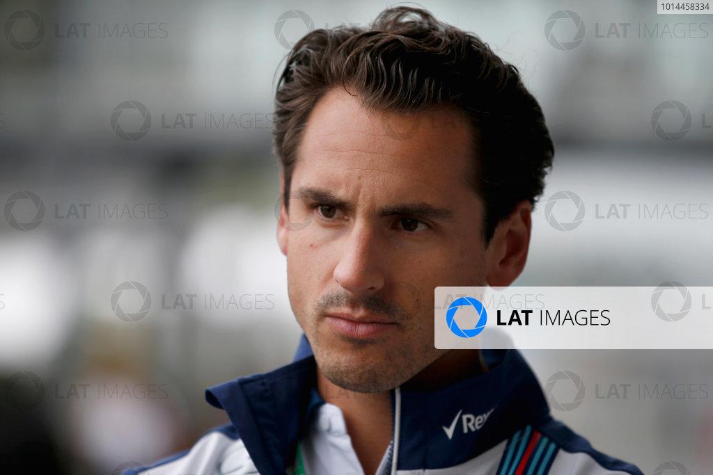 Suzuka Circuit, Suzuka, Japan.  Friday 25 September 2015. Adrian Sutil, Reserve Driver, Williams F1. World Copyright: Glenn Dunbar/LAT Photographic ref: Digital Image _W2Q0001