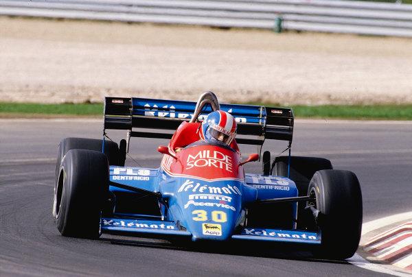 1984 Portuguese Grand Prix.Estoril, Portugal.19-21 October 1984.Jo Gartner (Osella FA1F Alfa Romeo) 16th position.Ref-84 POR 35.World Copyright - LAT Photographic