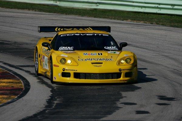 Oliver Gavin (GBR) Corvette Racing Chevrolet Corvette C6.R.American Le Mans Series, Rd7, Road America, Elkhart Lake, USA, 19-21 August 2005.DIGITAL IMAGE
