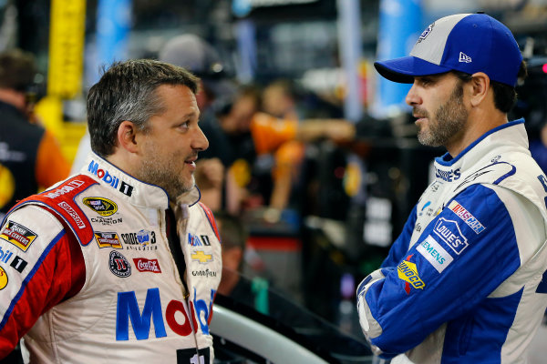 18-20 November, 2016, Homestead, Florida USA Tony Stewart and Jimmie Johnson ?2016, Russell LaBounty LAT Photo USA