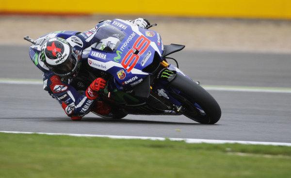 2016 MotoGP Championship.  British Grand Prix.  Silverstone, England. 2nd - 4th September 2016.  Jorge Lorenzo, Yamaha.  Ref: _W7_5905a. World copyright: Kevin Wood/LAT Photographic
