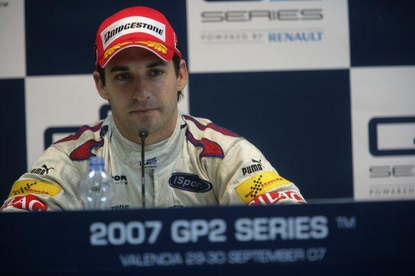 2007 GP2 Series. Round 11.Valencia, Spain. 30th September.Sunday Race. 2007 GP2 Series Champion Timo Glock (GER, iSport International). Portrait.World Copyright: Alastair Staley/GP2 Series Media Service.ref: Digital Image ZP9O0534