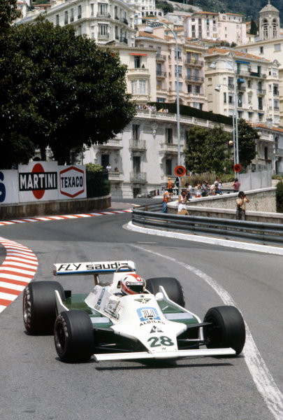 Monte Carlo, Monaco.24-27 May 1979.Clay Regazzoni (Williams FW07-Ford), 2nd position action. World Copyright: LAT Photographic.Ref:  79MON