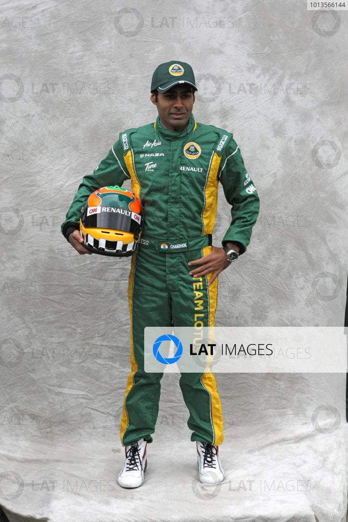 Albert Park, Melbourne, Australia24th March 2011.Karun Chandok, Team Lotus Renault T128. Portrait. World Copyright: LAT Photographicref: Digital Image2_LC1186