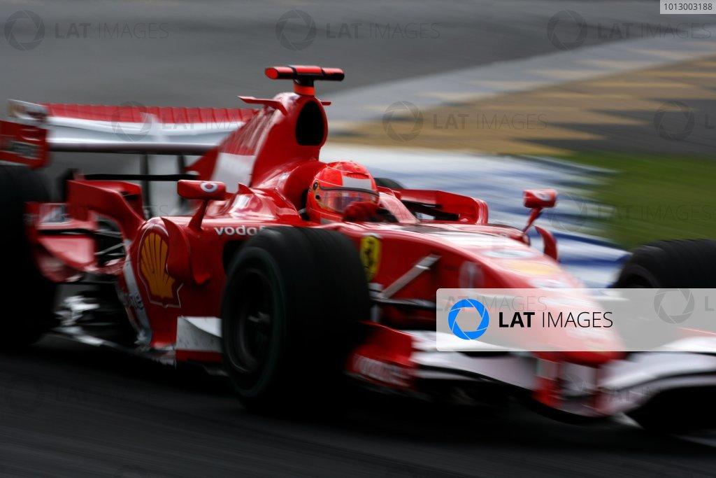 2006 Brazilian Grand Prix - Friday Practice Interlagos, Sao Paulo, Brazil. 19th - 22nd October 2006. Michael Schumacher, Ferrari 248F1, action. World Copyright: Charles Coates/LAT Photographic ref: Digital Image ZK5Y9232