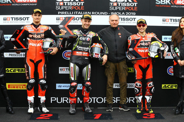 Chaz Davies, Aruba.it Racing-Ducati Team, Jonathan Rea, Kawasaki Racing Team, Alvaro Bautista, Aruba.it Racing-Ducati Team.