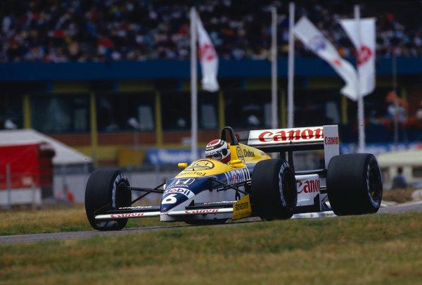 1986 German Grand Prix.Hockenheim, Germany.25-27 July 1986.Nelson Piquet (Williams FW11 Honda) 1st position.Ref-86 GER 35.World Copyright - LAT Photographic
