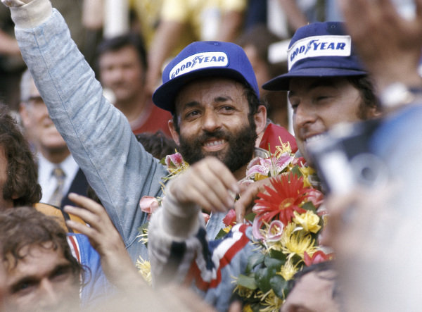 Henri Pescarolo and Gerard Larrousse celebrate victory.