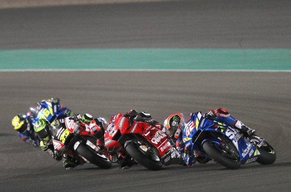 Danilo Petrucci, Ducati Team, Alex Rins, Team Suzuki MotoGP, Cal Crutchlow, Team LCR Honda.