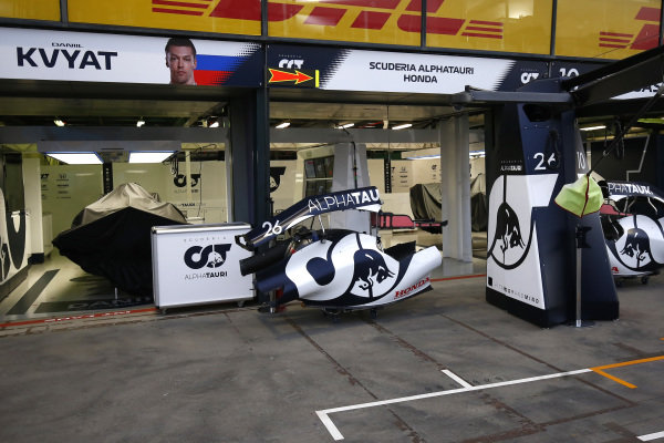 The AlphaTauri garage