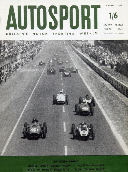 Cover of Autosport magazine, 1st January 1960