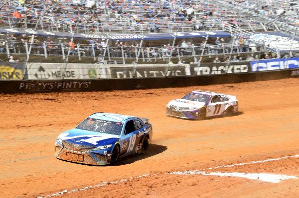 #19: Martin Truex Jr., Joe Gibbs Racing, Toyota Camry Auto-Owners Insurance, #11: Denny Hamlin, Joe Gibbs Racing, Toyota Camry FedEx Freight