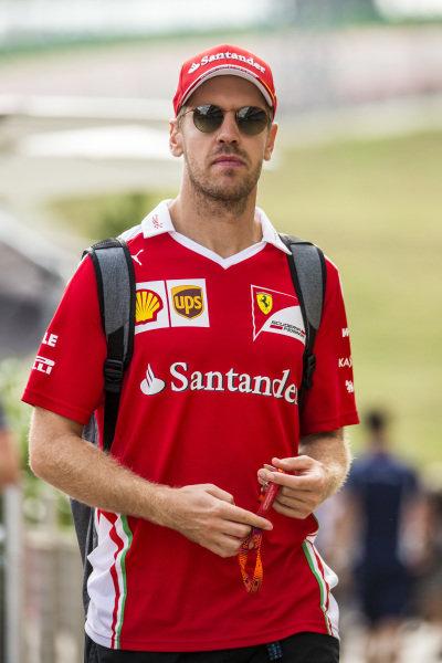Sebastian Vettel (GER) Ferrari at Formula One World Championship, Rd18, United States Grand Prix, Preparations, Circuit of the Americas, Austin, Texas, USA, Thursday 20 October 2016.