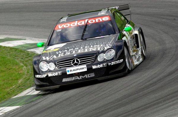2002 DTM Championship A1 Ring, Austria. 7th - 8th September 2002. Race winner Marcel Fassler (Warsteiner AMG Mercedes), action.World Copyright: Andre Irlmeier/LAT Photographic