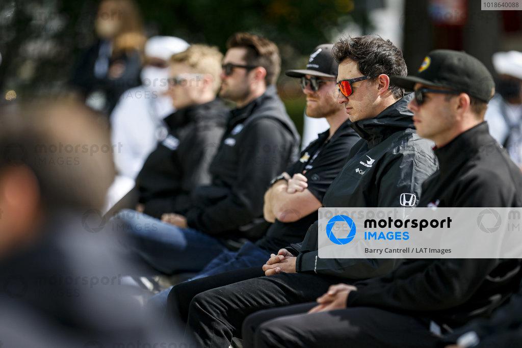 #15: Graham Rahal, Rahal Letterman Lanigan Racing Honda at the driver's meeting