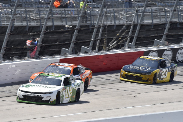 #02: Brett Moffitt, Our Motorsports, Chevrolet Camaro DESTINY HOMES, #98: Riley Herbst, Stewart-Haas Racing, Ford Mustang Henry Repeating Arms