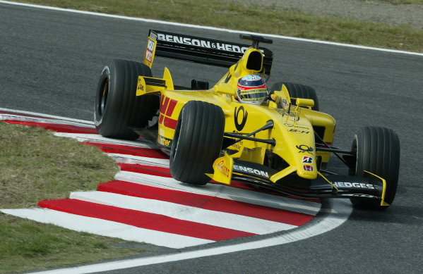 2002 Japanese Grand Prix.Suzuka, Japan.11-13 October 2002.Takuma Sato (Jordan EJ12 Honda).World Copyright - Steve Etherington/LAT Photographicref: Digital Image Only