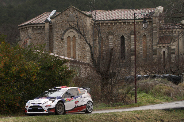Bryan Bouffier (FRA) / Xavier Panseri (FRA), Ford Fiesta RS WRC. FIA World Rally Championship, Rd1, Rally Monte Carlo, Day One, Monte Carlo, 16 January 2014.
