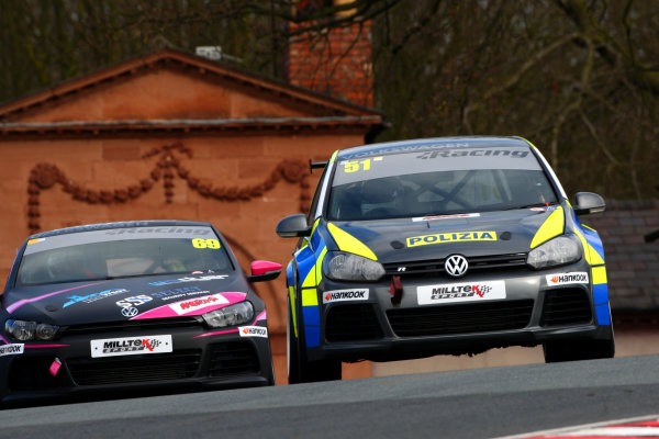 2015 Volkswagen Racing Cup, Oulton Park, Cheshire. 4th - 6th April 2015. Simon Andrews (GBR) AWM / Safe & Sound Golf GTI.  World Copyright: Ebrey / LAT Photographic.