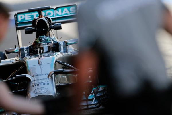 Circuit de Catalunya, Barcelona, Spain. Wednesday 14 May 2014. Nico Rosberg, Mercedes F1 W05 Hybrid. World Copyright: Sam Bloxham/LAT Photographic. ref: Digital Image _SBL0423