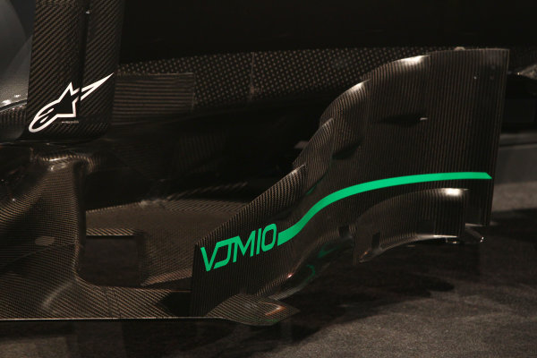 Force India VJM10 Formula 1 Launch. Silverstone, UK. Wednesday 22 February 2017. VJM10 technical detail of bodywork.  World Copyright: Hoyer/Ebrey/LAT Images Ref: MDH38303