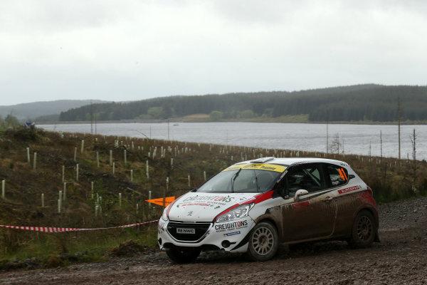 2017 Prestone MSA British Rally Championship,  Scottish Rally, Dumfries. 19th - 20th May 2017. William Creighton / Liam Regan Peugeot 208 R2. World Copyright: JEP / LAT Images.
