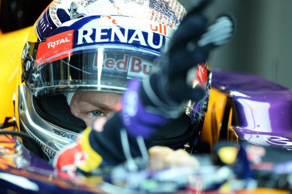 Sebastian Vettel (GER) Red Bull Racing RB9. Formula One World Championship, Rd8, British Grand Prix, Practice, Silverstone, England, Friday 28 June 2013.