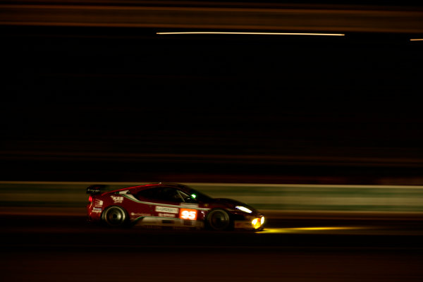 Circuit de La Sarthe, Le Mans, France. 6th - 13th June 2010.Giancarlo Fisichella / Jean Alesi / Toni Vilander, AF Corse SRL, No 95 Ferrari 430 GT. Action. World Copyright: Drew Gibson/LAT PhotographicDigital Image _Y2Z1701
