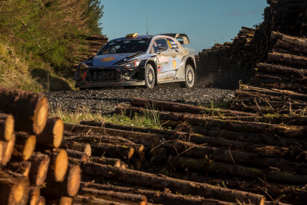 2017 FIA World Rally Championship, Round 12, Wales Rally GB, 26-29 October, 2017, Andreas Mikkelsen, Hyundai, action, Worldwide Copyright: LAT/McKlein