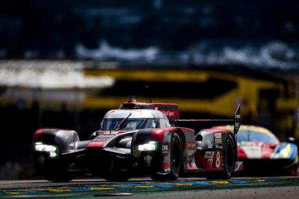 2016 Le Mans 24 Hours. Circuit de la Sarthe, Le Mans, France. Saturday 18 June 2016. Audi Sport Team Joest / Audi R18 - Lucas Di Grassi (BRA), Loic Duval (FRA), Oliver Jarvis (GBR).  World Copyright: Zak Mauger/LAT Photographic ref: Digital Image _L0U6431