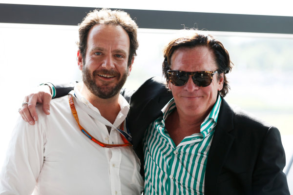 Red Bull Ring, Spielberg, Austria. Saturday 2 July 2016. Matteo Bonicani of FIA Communications with actor Michael Madsen. World Copyright: Steven Tee/LAT Photographic ref: Digital Image _X0W3609