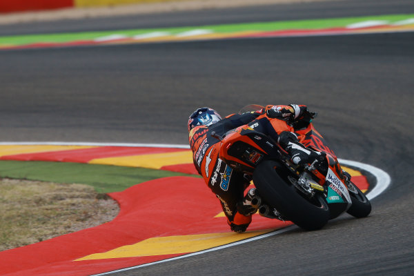 2017 Moto2 Championship - Round 14 Aragon, Spain. Friday 22 September 2017 Miguel Oliveira, Red Bull KTM Ajo World Copyright: Gold and Goose / LAT Images ref: Digital Image 693618