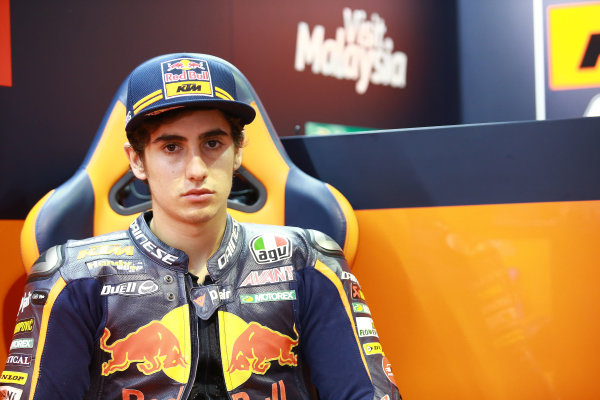 2017 Moto3 Championship - Round 14 Aragon, Spain. Friday 22 September 2017 Niccolo Antonelli, Red Bull KTM Ajo World Copyright: Gold and Goose / LAT Images ref: Digital Image 693514