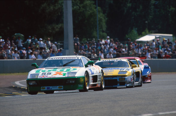 1994 Le Mans 24 Hours. Le Mans, France. 18th - 19th June 1994. Tetsuya Oota/Stefano Sebastiani/Robin Smith (Ferrari 348 LM), retired, action.  World Copyright: LAT Photographic. Ref:  94LM20