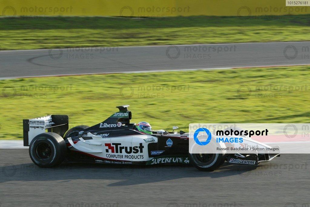 Gianmaria Bruni (ITA) Minardi Cosworth PS03 Formula One Testing , 12 December 2003 , Vallelunga , Italy .DIGITAL IMAGE