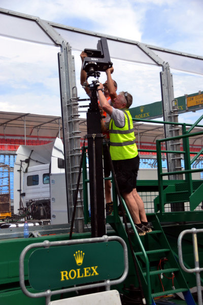 Camera is installed.Formula One World Championship, Rd1, Australian Grand Prix, Preparations, Albert Park, Melbourne, Australia, Monday 11 March 2013.