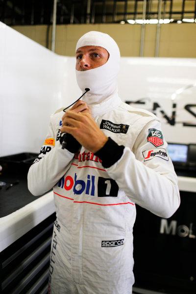 Interlagos, Sao Paulo, Brazil. Saturday 8 November 2014. Jenson Button, McLaren. World Copyright: Steven Tee/LAT Photographic. ref: Digital Image _X0W6819