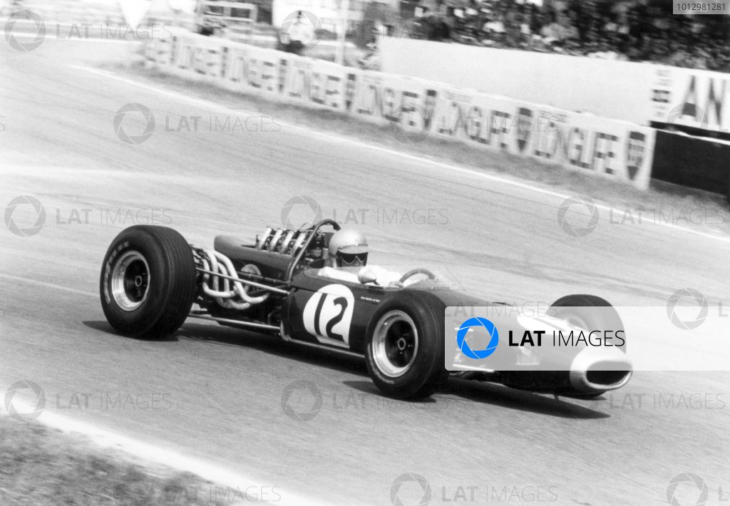 1966 French Grand Prix.Reims, France. 3 July 1966.Jack Brabham, Brabham BT19-Repco, 1st position, action.World Copyright: LAT PhotographicRef: 3558 #11