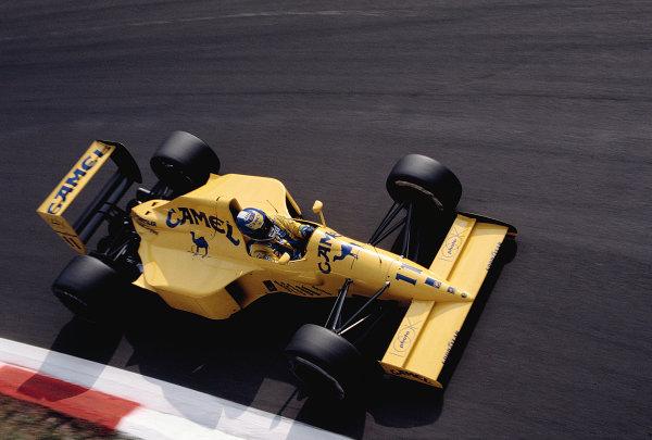 1990 Italian Grand Prix. Monza, Italy. 7-9 September 1990. Derek Warwick (Lotus 102 Lamborghini). Ref-90 ITA 24. World Copyright - LAT Photographic