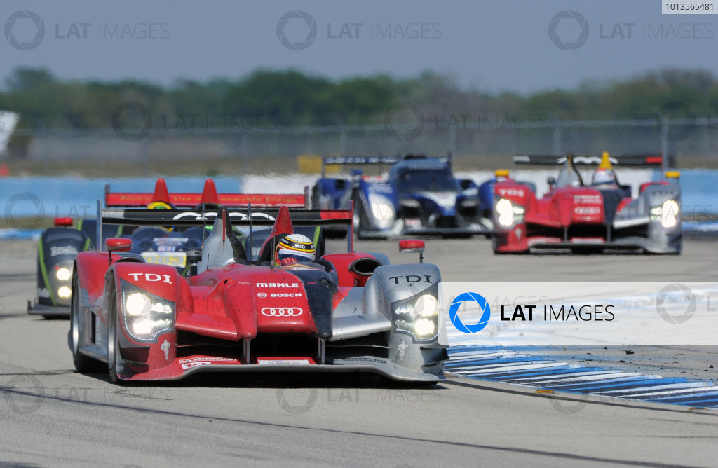 14-19 March 2011. Sebring, Florida USA#1 Audi Sport  Tean Joest Audi R15+©2011 Dan R. Boyd LAT Photo USA