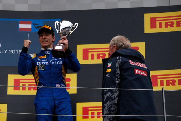 2016 GP2 Series Round 4 Red Bull Ring, Spielberg, Austria. Sunday 3 July 2016. Alex Lynn, (GBR, DAMS)  Photo: Sam Bloxham/GP2 Series Media Service. ref: Digital Image _SLA9954