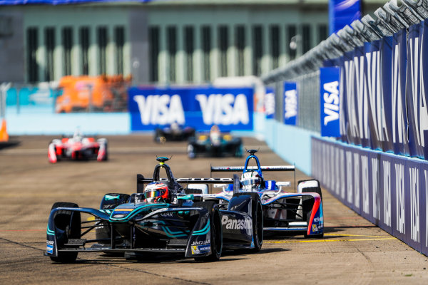 2016/2017 FIA Formula E Championship. Round 8 - Berlin ePrix, Tempelhof Airport, Berlin, Germany. Sunday 11 June 2017. Mitch Evans (NZL), Jaguar Racing, Spark-Jaguar, Jaguar I-Type 1. Photo: Zak Mauger/LAT/Formula E ref: Digital Image _56I5395