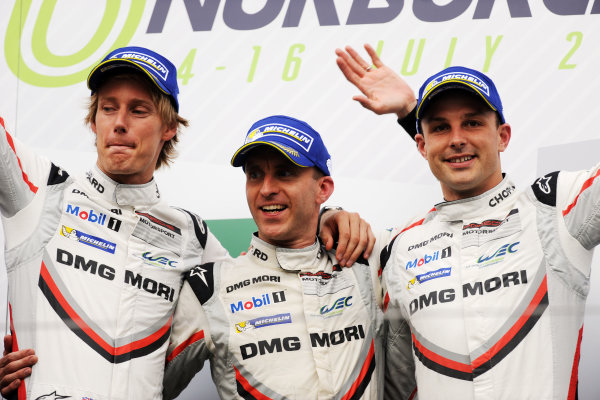 2017 World Endurance Championship, Nurburgring, Germany. 14th-16th July 2017 #2 Porsche LMP Team Porsche 919 Hybrid: Timo Bernhard, Earl Bamber, Brendon Hartley  World copyright. JEP/LAT Images