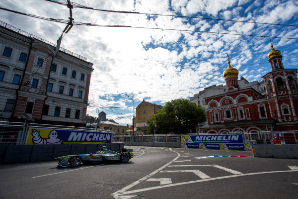 2014/2015 FIA Formula E Championship. Moscow ePrix, Moscow, Russia. Saturday 6 June 2015 Antonio Garcia (SPA)/China Racing - Spark-Renault SRT_01E. Photo: Zak Mauger/LAT/Formula E ref: Digital Image _L0U0554