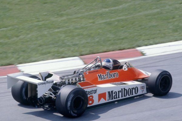 1980 Austrian Grand Prix.Osterreichring, Zeltweg, Austria. 15-17 August 1980.Alain Prost (McLaren M29-Ford Cosworth), 7th position.World Copyright: LAT PhotographicRef: 35mm transparency 80AUT19
