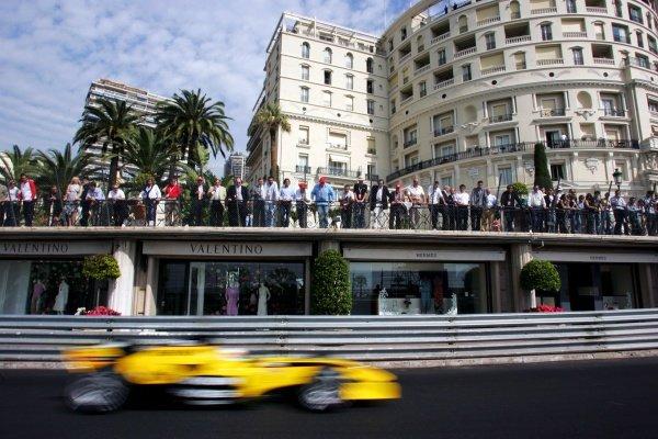 Narain Karthekeyan (IND) Jordan EJ15.Formula One World Championship, Rd6, Monaco Grand Prix, Race Day, Monte Carlo, Monaco, 22 May 2005.DIGITAL IMAGE