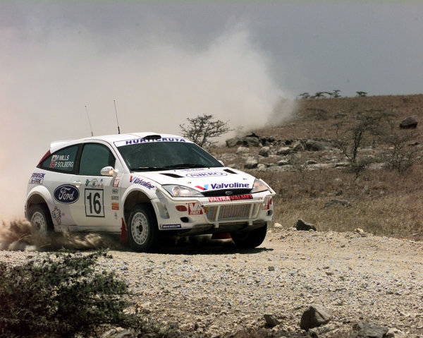 2000 World Rally ChampionshipRound 3, Safari WRC25th - 27th Feb 2000Peteter Solberg & Phil Mills in action in the Ford Focus.Photo: McKleinTel: +44 (0)181 251 3000Fax: +44 (0)181 251 3001Somerset House,Somerset Road,Teddington,Middlesex,TW11 8RUUnited Kingdon.