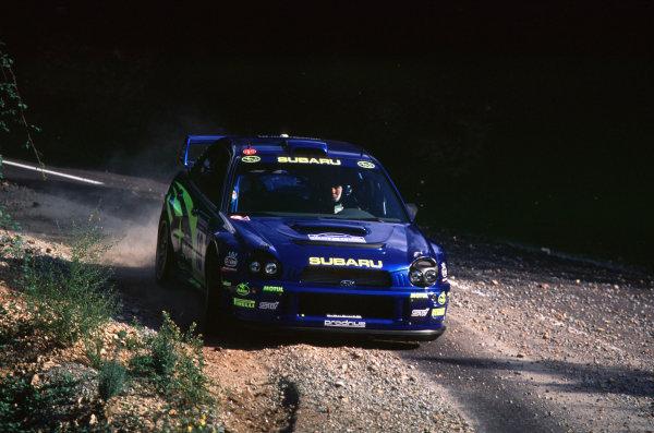 2001 FIA World Rally ChampsRallye de France, Ajaccio, Corsica, 18th-21st October 2001.Markko Martin in the Subaru, action.World Copyright: LAT Photographic/McKlein.ref: 35mm Image A15
