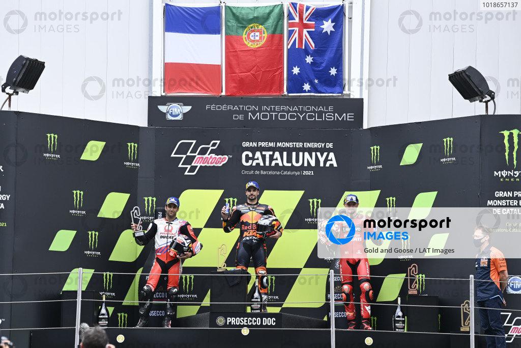Johann Zarco, Pramac Racing, Miguel Oliveira, Red Bull KTM Factory Racing, Jack Miller, Ducati Team.