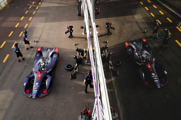 Sam Bird (GBR), Envision Virgin Racing, Audi e-tron FE05, in the pit lane